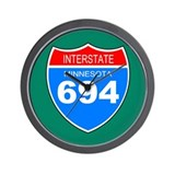 Interstate 694<BR> Wall Clock