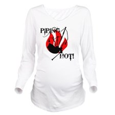 Piping Hot! Long Sleeve Maternity T-Shirt