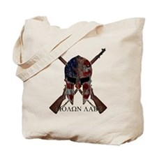 Molon Labe Crossed Guns Tote Bag