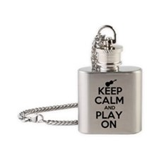 Keep Calm and Play On Violin Flask Necklace