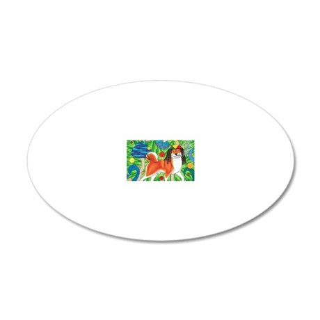 Stoner Inu 20x12 Oval Wall Decal