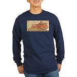 Flat Kentucky Long Sleeve Dark T-Shirt