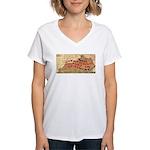 Flat Kentucky Women's V-Neck T-Shirt