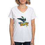 Minnesota Loon Women's V-Neck T-Shirt