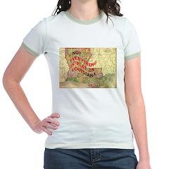 Flat Louisiana Jr. Ringer T-Shirt