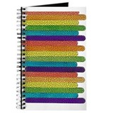 RAINBOW TILED POPSICLE STICKS/VERT Journal