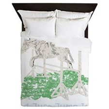 Fun Hunter/Jumper Equestrian Horse Queen Duvet