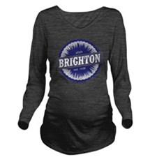 Brighton Ski Resort  Long Sleeve Maternity T-Shirt