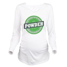 Powder Mountain Ski  Long Sleeve Maternity T-Shirt
