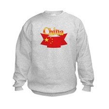 China flag ribbon Sweatshirt
