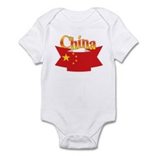 China flag ribbon Infant Bodysuit