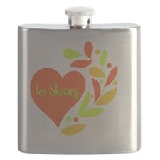 Ice Skating Heart Flask