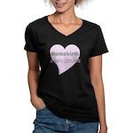 Homebirth Women's V-Neck Dark T-Shirt