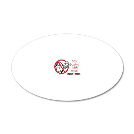whisk bumpersticker 20x12 Oval Wall Decal