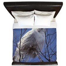 Snowy White Owl King Duvet
