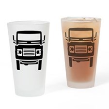 Land Rover illustration Drinking Glass