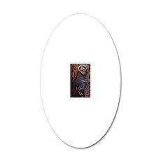 Raccoon 20x12 Oval Wall Decal