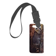 Raccoon Luggage Tag