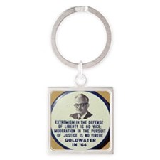 Goldwater button Square Keychain