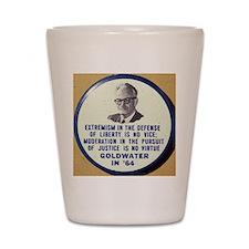Goldwater button Shot Glass