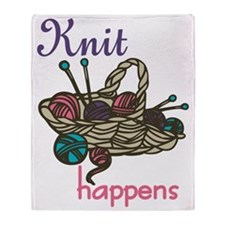 Knit Happens Throw Blanket