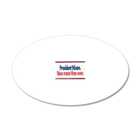 Nixon Reelection 20x12 Oval Wall Decal
