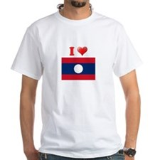I love Laos Flag Shirt