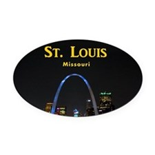 St Louis Gateway Arch Oval Car Magnet