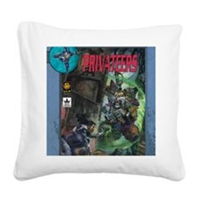 Spacemaster Privateers Square Canvas Pillow