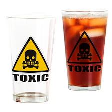 SIGN - TOXIC - SKULL Drinking Glass