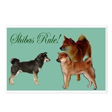 Shibas Rule Postcards (Package of 8)
