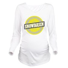 Snowbasin Ski Resort Long Sleeve Maternity T-Shirt