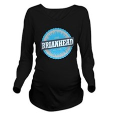 Brian Head Ski Resor Long Sleeve Maternity T-Shirt