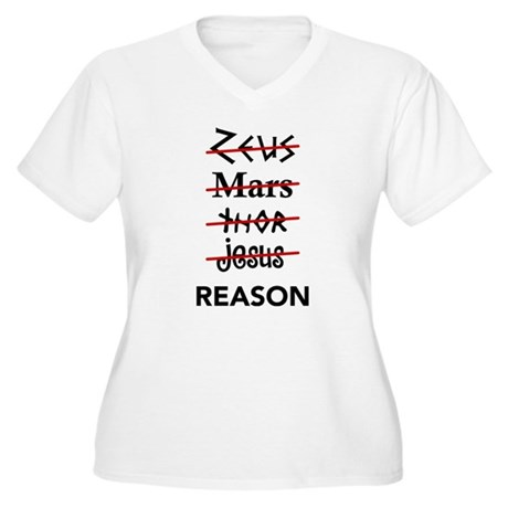 Zeus to Reason Women's Plus Size V-Neck T-Shirt