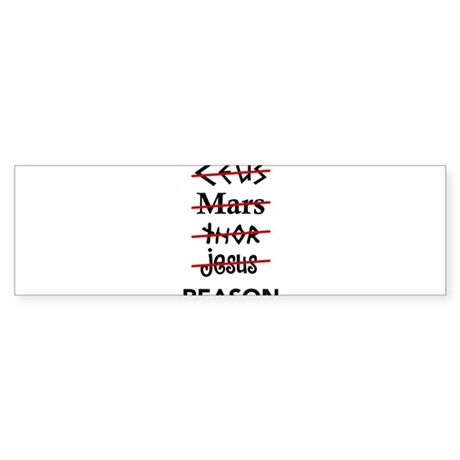 Zeus to Reason Bumper Sticker
