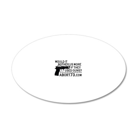 Would it Bother Us More if T 20x12 Oval Wall Decal