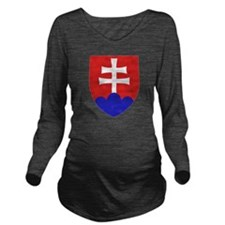 Slovakia Coat of Arm Long Sleeve Maternity T-Shirt