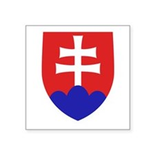 """Slovakia Coat of Arms Square Sticker 3"""" x 3"""""""