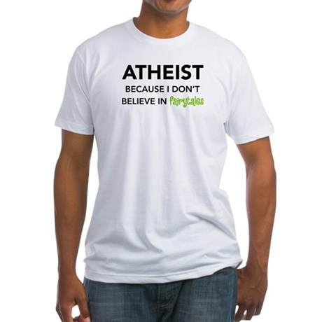 Atheist vs. Fairytales Fitted T-Shirt