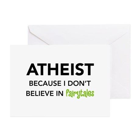Atheist vs. Fairytales Greeting Cards (Package of