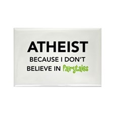 Atheist vs. Fairytales Rectangle Magnet (100 pack)