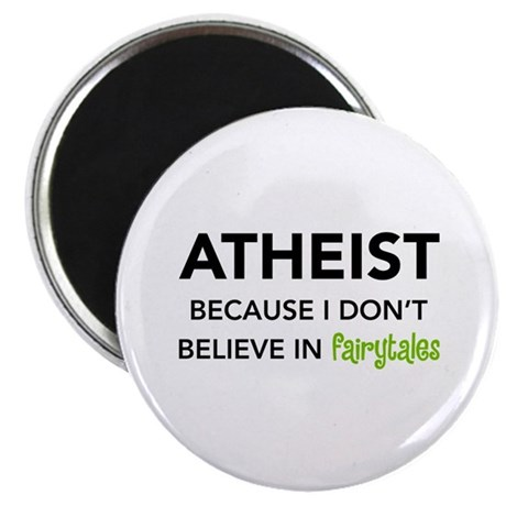 Atheist vs. Fairytales 2.25&quot; Magnet (100 pack)