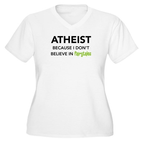 Atheist vs. Fairytales Women's Plus Size V-Neck T-