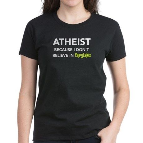 Atheist vs. Fairytales Women's Dark T-Shirt