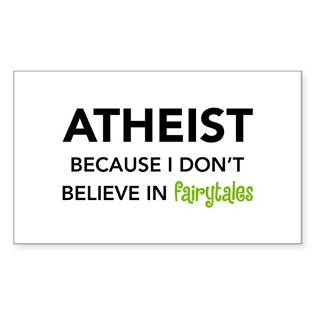Atheist vs. Fairytales Rectangle Sticker