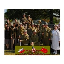 Pattons 3rd Army Living Historians Throw Blanket