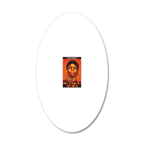 High Priestess of Soul 20x12 Oval Wall Decal