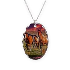 Sunset Horses Necklace