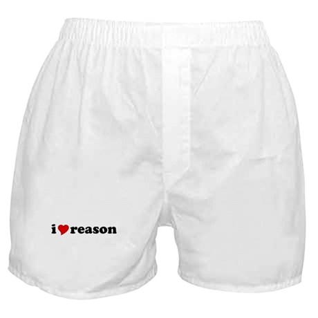 I Love Reason Boxer Shorts