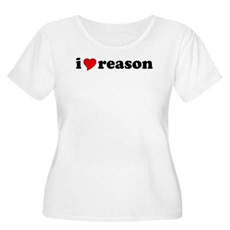 I Love Reason Women's Plus Size Scoop Neck T-Shirt